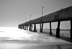 Pacifica Pier (bimalshresthaart) Tags: sanfrancisco california old travel blackandwhite bw beach nature water monochrome beautiful lens design pier architechture nikon exploring perspective experiment structure bayarea capture tgif pictureoftheday bnw tb throwback sunnyday photooftheday pacificapier flickrtoday flickrcommunity