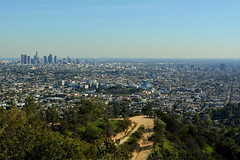 Los Angeles (dave87912) Tags: park skyline la los downtown angeles observatory griffith