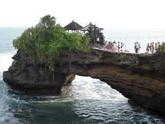 Bali-Waiting for sunset at Tanah Lot Temple (ustung) Tags: sunset bali indonesia landscape temple seaside tabahlot