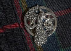 Peacock Pin on MacLately Tartan Kilt 2