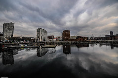 Liverpool (trishlechman) Tags: england sky reflection architecture clouds liverpool landscape photography nikon scenery tokina waterscape wideview nikond90