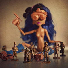 Army of Me (GothGeekBasterd) Tags: blue art monster metal bronze nude toy soldier army glasses robot iron punk doll mechanical swiss science kinder class steam queens kings freak tiny cooper surprise soldiers mad mattel scientist ghoul steampunk robecca monsterhigh