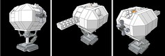Eagle transporter - Landing Pad - Space 1999 (mattingly3900) Tags: moon lego eagle space 1999 spaceship cosmos transporter alphabase
