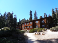 Sequoia Building at the Wuksachi Lodge (traveling peter) Tags: california ca wood blue trees windows sky usa building green rock architecture america hotel march nationalpark bush path ground bluesky lodge pole sierranevada sequoia slope sequoianationalpark 2015 wuksachi year2015 sequoiabuilding wusachilodge