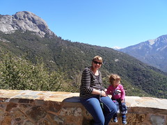 Rocky Mountains in the Sierra Nevada (traveling peter) Tags: california ca family pink blue shadow portrait sky usa green sunglasses smiling wall america hair march nationalpark bush sitting view peak bluesky sierranevada sequoia sophia slope sequoianationalpark 2015 meggiev year2015