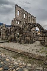 teatro romano di Aosta (Federico Barbera) Tags: teatro pentax romano aosta 14mm teatroromano samyang14mm pentaxk30
