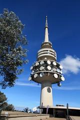 Telstra Tower - Black Mountain (JungleJack22) Tags: tower john tv capital ss australia communication needlepoint telstra canberra tall blackmountain act acton