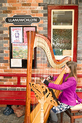 Harpist Adele at Llanuwchllyn (welsh snapper) Tags: wales train engine railway loco trains engines locomotive steamengine steamtrain gwynedd steamtrains steamlocomotive steamengines llanuwchllyn steamloco balalakerailway quarryhunslet walesgwynedd