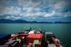 On the Ferry to Koh Chang Thailand (Thaiexpat) Tags: colors ferry landscape thailand island boat april kohchang 2015