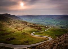Road to Edale (Bashir Towers) Tags: road sunset landscape nikon hiking derbyshire peakdistrict nationaltrust edale mamtor castleton