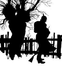 1s (DenjaChe) Tags: silhouette papercut scherenschnitt germansoldiers