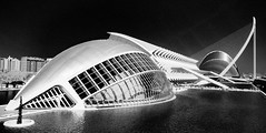 City of Art and sciences (stefan.lafontaine) Tags: bw white black blanco valencia noir y negro des infrared et weiss artes blanc palau schwarz skancheli