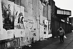 DR3-E105 (David Swift Photography Thanks for 16 million view) Tags: abandoned film philadelphia 35mm urbandecay streetphotography ilfordxp2 movieposters streetscapes abandonedbuildings northphilly leicaminilux abandonedstorefronts davidswiftphotography