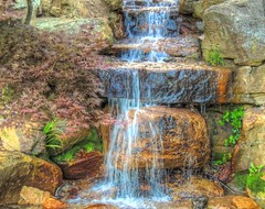 Comes Tumbling Down (clarkcg photography) Tags: fall water rocks down falls tumbling spilling babbling rushing greenmoss flatstone roundboulder