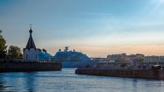 Seabourn Quest (pilot3ddd) Tags: saintpetersburg sunrays sunnyday almostsummer nevariver seabournquest olympuspenepl7 panasoniclumixg1232