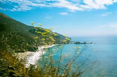45430015 (danimyths) Tags: ocean california mountains film beach nature water landscape coast waterfront pacific roadtrip pch pacificocean westcoast pacificcoastalhighway filmphotography