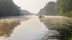 Siverskyy Donets (okop555) Tags: morning summer sky sun mist nature water river landscape dawn spring fishing fisherman nikon view ngc sigma ukraine daybreak fishingtrip woodlandscenery sigma1750 d7000 nikond7000