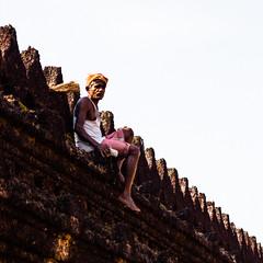 indian street - man (matmatson) Tags: street new travel india man streetphotography indien travelblog mangalore streetstyle indianman strase travelblogger flyingaroundtheworld
