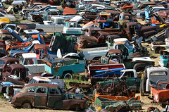 every which way (Patinagal) Tags: history rust decay trucks junkyard scrapyard automobiles relic