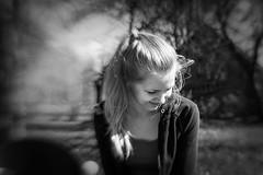 B&W (Niks Freimanis) Tags: portrait bw white girl monochrome beautiful smile lensbaby canon countryside sweet country baltic latvia balck blonde pro 35 composer latvija 70d