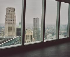 View from 1 World Trade Center (Freedom Tower) (Thomasaurus) Tags: world street new york bridge tower mamiya one freedom kodak 8 gehry center brooklynbridge wtc 100 trade spruce ektar beekman 7ii