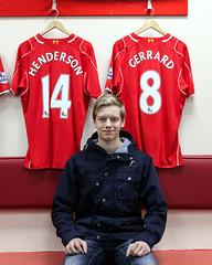 Oscar 2015-04-11 (Michael Erhardsson) Tags: england liverpool fan oscar stadium supporter premier league anfield lfc ynwa 2015 widegren ligan engelska fotbollsresa fotbollslag
