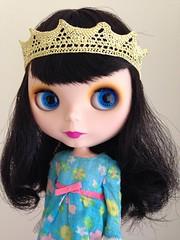 Meet Cherry Bea, my new faux Goldie!  (vintagecitygem) Tags: ooak neo custom allgoldinone blythedoll ebl cherryberry vintageskipperdress fauxgoldie blwannabe genuinetakara