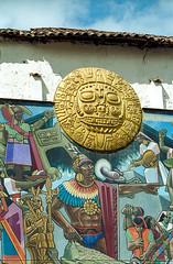 Peru : Cuzco, The Mural by Juan Bravo #2 (foto_morgana) Tags: peru southamerica cuzco artist outdoor nikoncoolscan analogphotography juanbravo analogefotografie vuescan travelexperience photographieanalogue