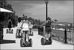 Ladies who Segway - DSCF1152a (normko) Tags: sea costa beach spain side front paseo promenade segway marbella iberia maritimo marbs