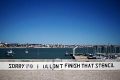 _MG_3554be (Katinka Irrlicht) Tags: stencil portugal coast hafen harbour ships schiffe street art graffiti