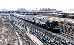 Conrail 8438 and Amtrak 708 on 1-2-81 (C.W. Lahickey) Tags: chicago illinois amtrak ge sw1 conrail emd p30ch