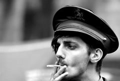 Ready (tezzer57) Tags: street portrait blackandwhite man blackwhite edinburgh cigarette smoking royalmile rollup