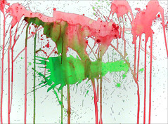 Spatter Painting No. 10... (Dave Whatt) Tags: painting colour spatter splash acrylic ink paper rivulets liquid