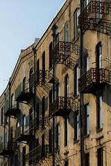 Ironwork and shadows (mnmlong) Tags: brick georgia shadows historic balconies savannah riverstreet