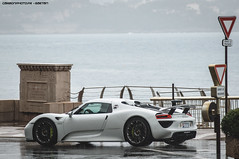 Wet 918 (Gaetan   www.carbonphoto.fr) Tags: auto car speed germany great fast automotive spyder monaco exotic coche porsche carlo monte incredible luxury supercar 918 hypercar worldcars carbonphoto