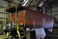 New Haven, Kentucky (3 of 7) (Bob McGilvray Jr.) Tags: newhaven kentucky ky caboose wood wooden cupola railroad train tracks restoration old museum kentuckyrailwaymuseum ln louisvillenashville