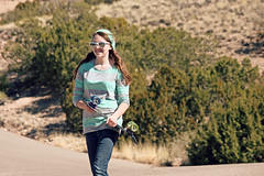 (K. Sawyer Photography) Tags: road trees portrait girl smile sunglasses skateboarding hill teen skateboard teenager teenage placitasnewmexico
