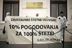 S.O.S. za Jadran akcija ispred Vlade RH