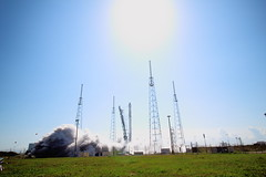 "Falcon 9 Launches From SLC-40 • <a style=""font-size:0.8em;"" href=""http://www.flickr.com/photos/12150483@N04/16577890044/"" target=""_blank"">View on Flickr</a>"