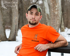 William Photo Shoot (Shawn Collins Photography) Tags: portrait hairy male hat portraits canon beard outdoors photography model modeling masculine hunting camo hunter malemodel scruff crawfordcounty guymodel