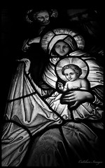 The Light of Baby Jesus (CallihanImages) Tags: blackandwhite bw white black church canon mary jesus babyjesus 18mm 70d warrenpa holyredeemercatholicchurch canoneos70d canon70d efs1018mmf4556isstm