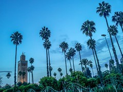 Kautoubia Mosque and Minaret (Mayur Shivz - Out and about casual photography) Tags: minaret morocco marrakech koutoubia