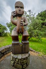 Maori Statue at Karekare Beach (Kayla Stevenson) Tags: karekarebeach maoritotem newzealand northisland