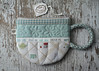 Teacup Pouch (PatchworkPottery) Tags: bag tea sewing patterns crafts fabric pouch quilted patchwork teacup wonderland wristlet patchworkpottery