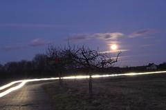 Moonlight (PatrickOhnsorge) Tags: light sky moon lightpainting beautiful night clouds canon germany outside deutschland 50mm mond nacht himmel wolken explore land moonlight blau saarland langzeitbelichtung
