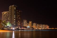 Waikiki at Night (Dr_Drill) Tags: night dark hawaii nikon waikiki oahu hi honolulu nikkor vr d800 1635 1635vr