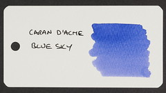 Caran d'Ache Blue Sky - Word Card