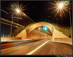 ... - Strings of light... (Nick Papakonstantinou) Tags: road nightphotography red white trafficlights green night lights traffic sony tunnel headlights greece f828 hdr sonydscf828 backlights roadlights volos sonyf828 thessaly lightrails hdrphotography longexposurephotography magnesia goritsahill