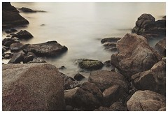 Rocks around Blanes (16) (CheloXs) Tags: longexposure sea espaa costa sun sol beach rock landscape mar seaside spain rocks playa catalonia shore catalunya costabrava blanes