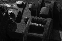 Metal (Joe Panter) Tags: old light shadow macro castle history texture mill wheel closeup rust historic machinery bolts warwick warwickshire nutts joepanter